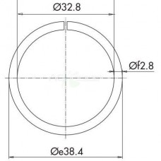 Кольцо пружинное d-38.4